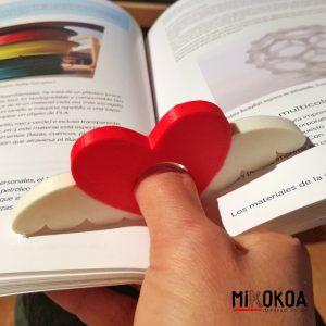 Anillo de lectura personalizado con forma de corazón