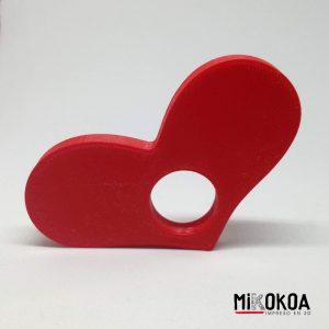 Anillo de lectura personalizado corazón