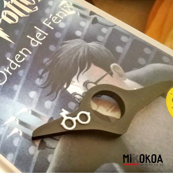 Anillo que facilita la lectura personalizado inspirado en Harry Potter. Mikokoa, impreso en 3D