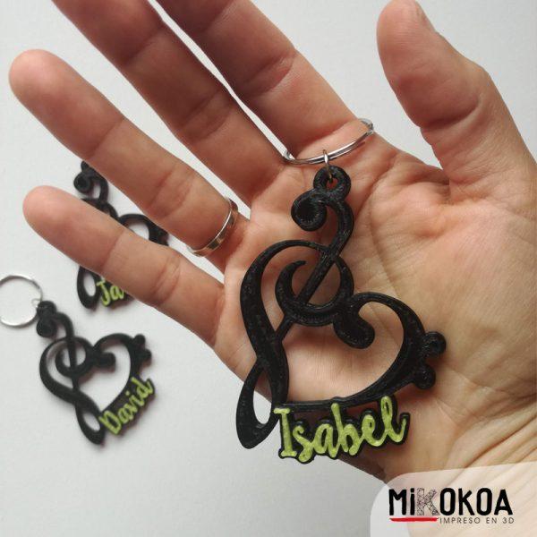 davMikokoa, Impreso en 3D. Llaveros personalizados impresos en 3D