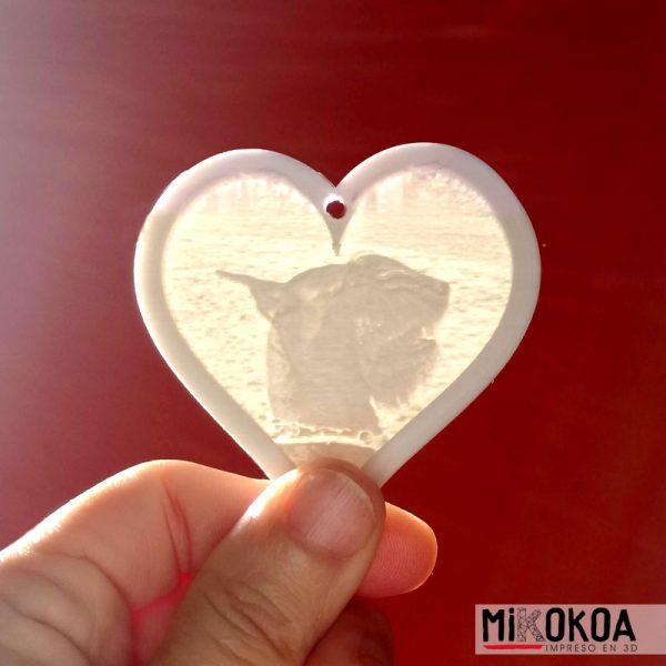 Mikokoa, Impreso en 3D. Llaveros con foto impresa en 3D, litofanía.