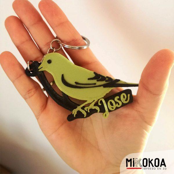 Mikokoa, Impreso en 3D. Llaveros personalizados impresos en 3D