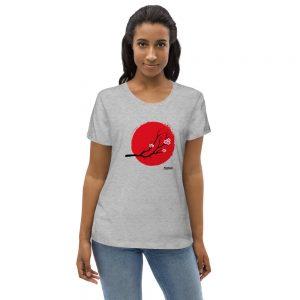 Camiseta ecológica ajustada para mujer
