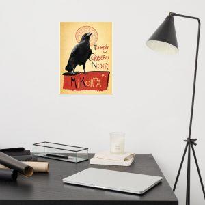 Póster mate Cuervo Negro de varias medidas
