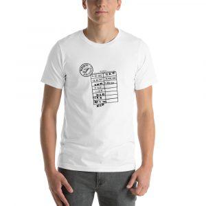 Camiseta de manga corta unisex Biblioteca
