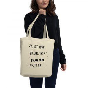 "Tote bag ""Fechas Biblioteca"" de algodón orgánico"